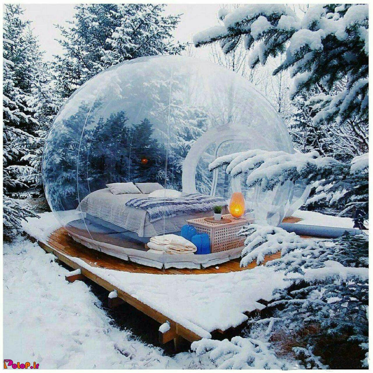 اتاق های بسیار زیبایی به شکل حباب