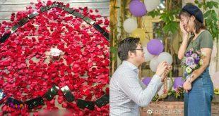 چن مینگ، یک برنامه نویس بازیهای کامپیوتری با خرید 25 آیفون X و چیدن آنها به شکل یک قلب بر روی زمین از دختر مورد علاقه اش تقاضای ازدواج کرد.