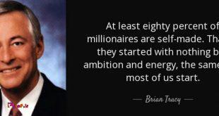 حداقل ۸۰ درصد ثروتمندان خودساخته هستند.
