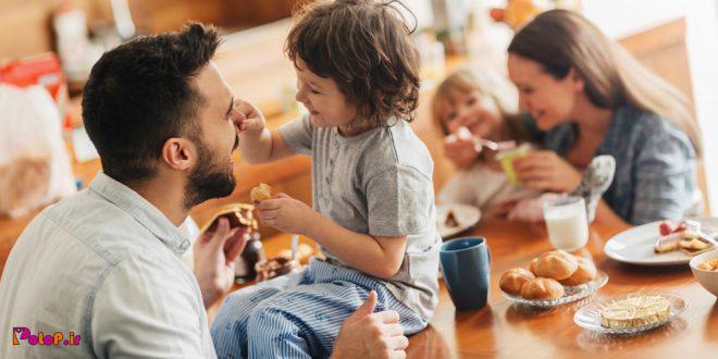 اغلب کودکان در غذا خوردن، الگوپذیر پدر و مادر خود هستند