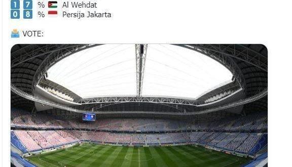♦️توئیتر رسمی کنفدراسیون فوتبال آسیا بعد از 24 ساعت از آغاز نظرسنجی پرهوادارترین باشگاه فوتبال آسیا نتایج موقت این نظرسنجی را اعلام کرد.