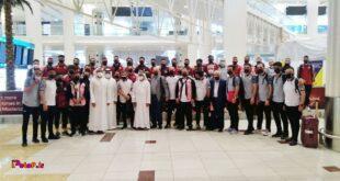 استقبال گرم مسئولین اماراتی و مدیران باشگاه الشارجه از تراکتوریها در امارات؛