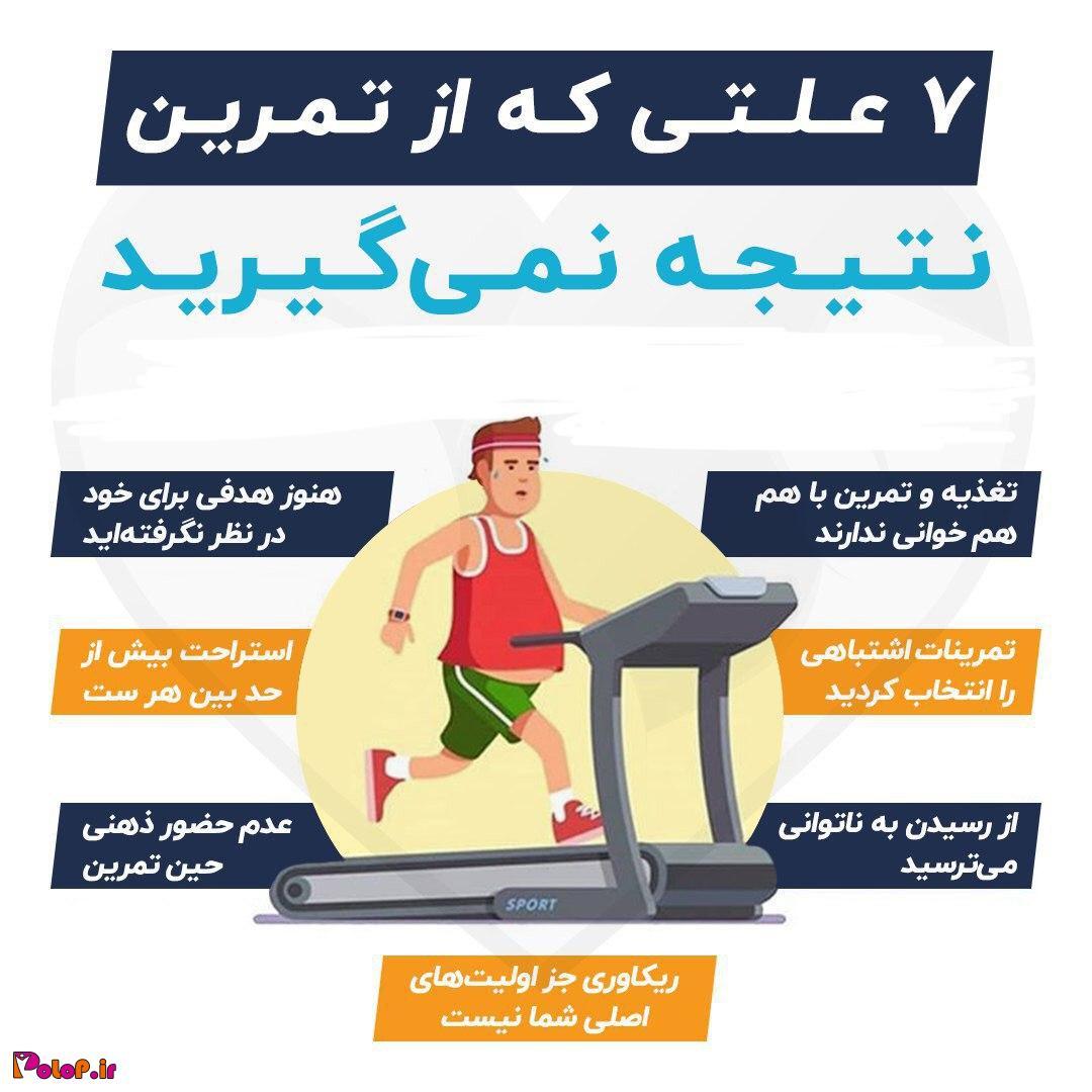 7 علتی که از تمرین نتیجه نمیگیرید