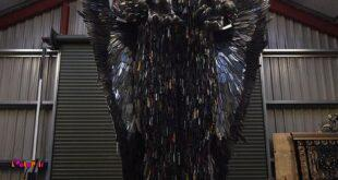 اسم این مجسمه فرشتهی چاقوهاست!