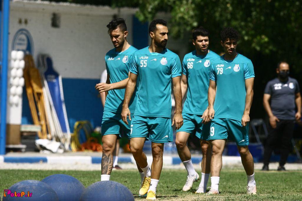 گزارش تمرین صبح روز یکشنبه تیم فوتبال استقلال: