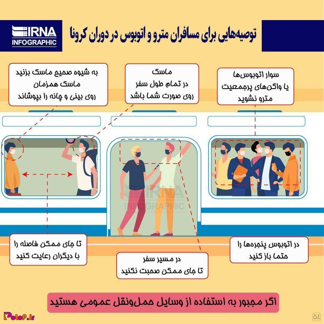 توصیههایی برای مسافران مترو و اتوبوس در دوران کرونا