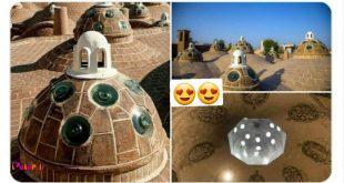 به سازههای قوسی شکل روی بام حمامهای تاریخی ایران جامخانه گفته میشود.
