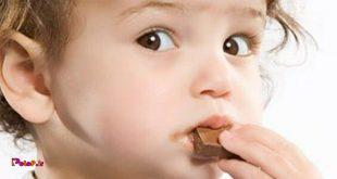 اگر کودک شما بیش از حد شکلات مصرف می کند!