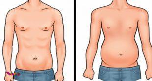 نکاتی برای آب کردن شکم , افراد لاغر اندامی که شکم دارند