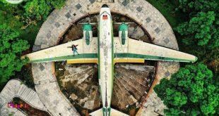 این هواپیمای آمریکایی وسط شهر تهران نشسته!